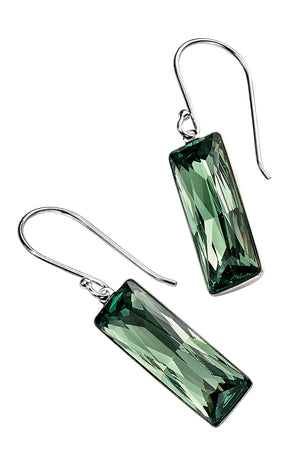 Swarovski Crystal Rectangle Drop Earring