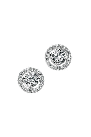 E4909C CLR CZ Round Pave Stud EARRNG