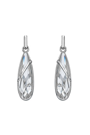 Elongated teardrop Crystal Swarovski earrings