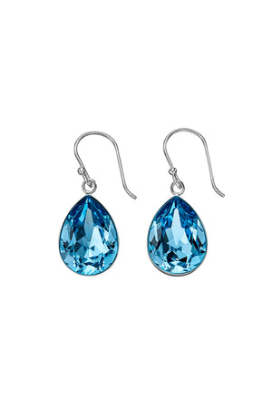 Aqua Swarovski teardrop earrings