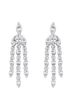 CZ Marquise statement earrings