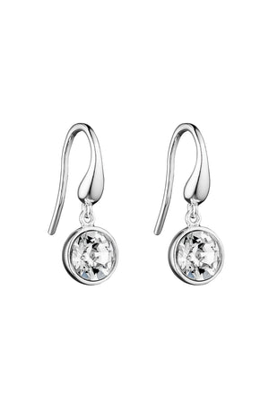 Clear crystal swarovski drop earrings