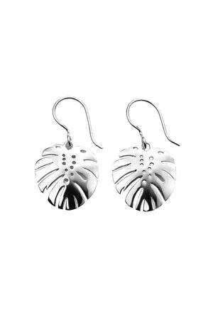 Palm leaf cutout earring