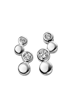 CZ bubble earrings
