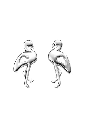 Flamingo ear studs