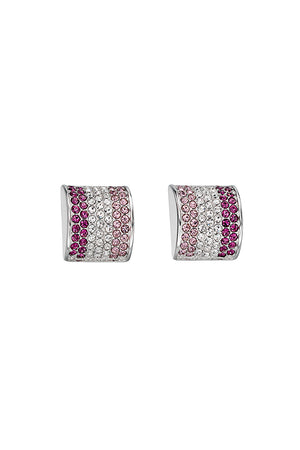 Amethys CZ stud earrings