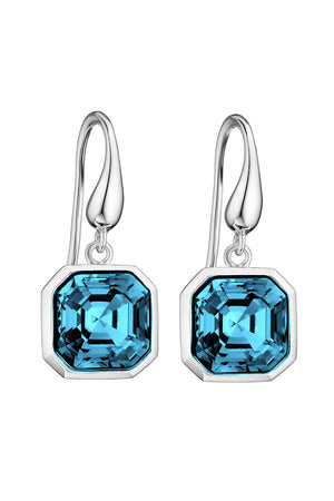 Swarovski Aquamarin easscher cut earrings
