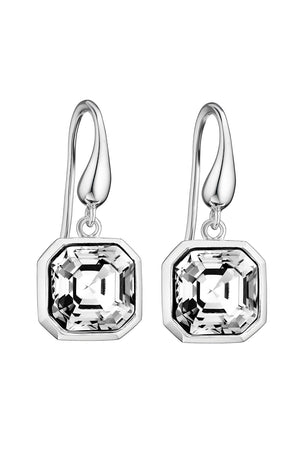 Swarovski crystal asscher cut earrings