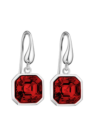 Swarovski Scarlet asscher cut earrings
