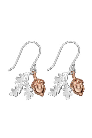 Rose Acorn/Leaf hook Earrings