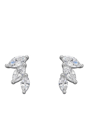 CZ Marquise Stud Earrings
