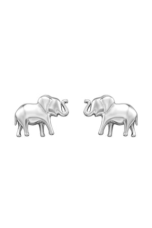 Baby Elephant silver stud earrings