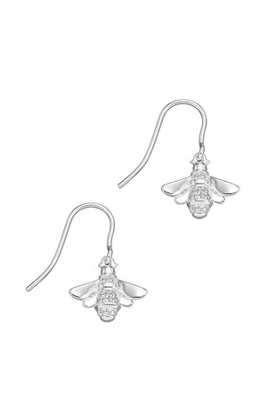 Detailed CZ pave bee earrings
