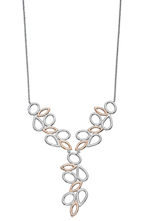 Silver RG plated contrast shape necklace