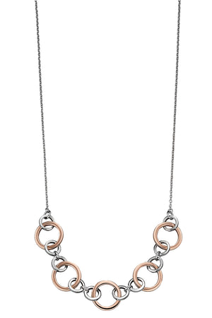 Multi link rose gold plated necklace