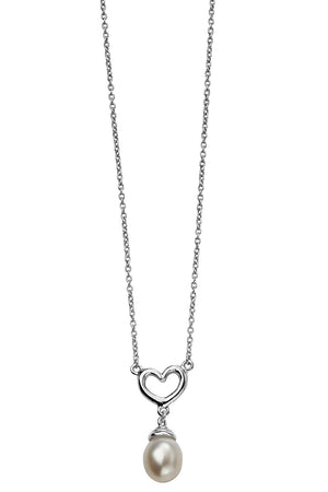 Heart drop pearl necklace