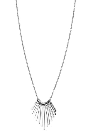 Graduated bar fan necklace