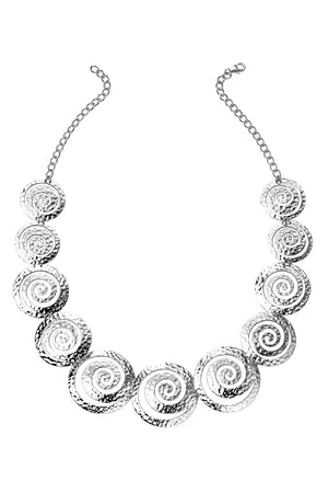 Multi swirl disc necklace