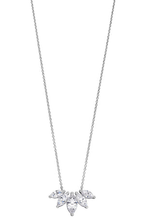 CZ Marquise Row Necklace
