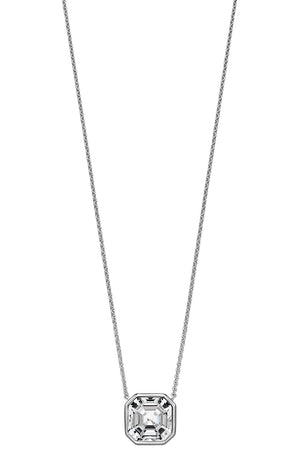 Swarovski crystal asscher cut necklace