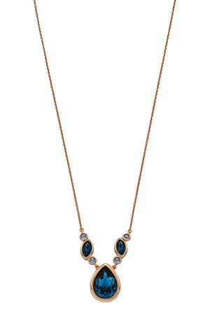 Rose gold plated Monta Swarovski necklace
