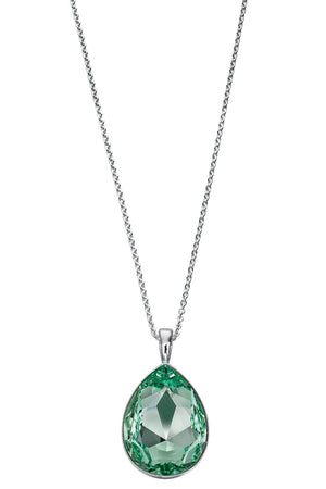 Chrysolite swarovski drop pendant