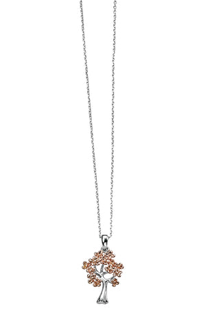 rose gold plated tree shape pendant