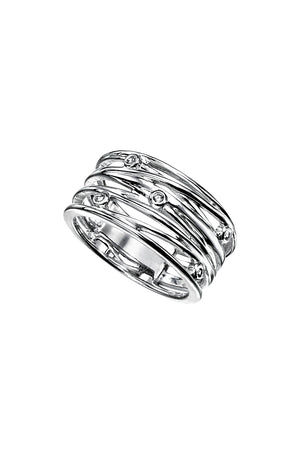 Wrapped Wire style ring with CZ