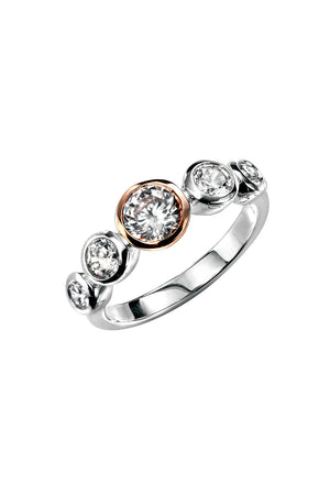 Rose Gold Plated Multi CZ Ring