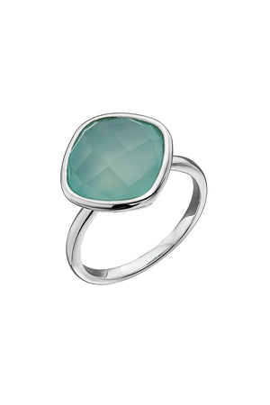 Fancy Aqua Chalcedony Ring