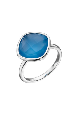 Fancy Blue Chalcedony Ring