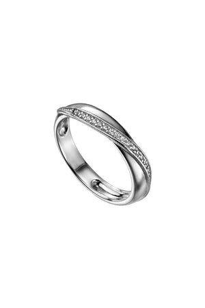 twisted wrap pave ring