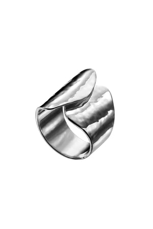 Statement hammered texture ring