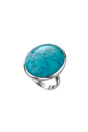 Large oval turquoise ring