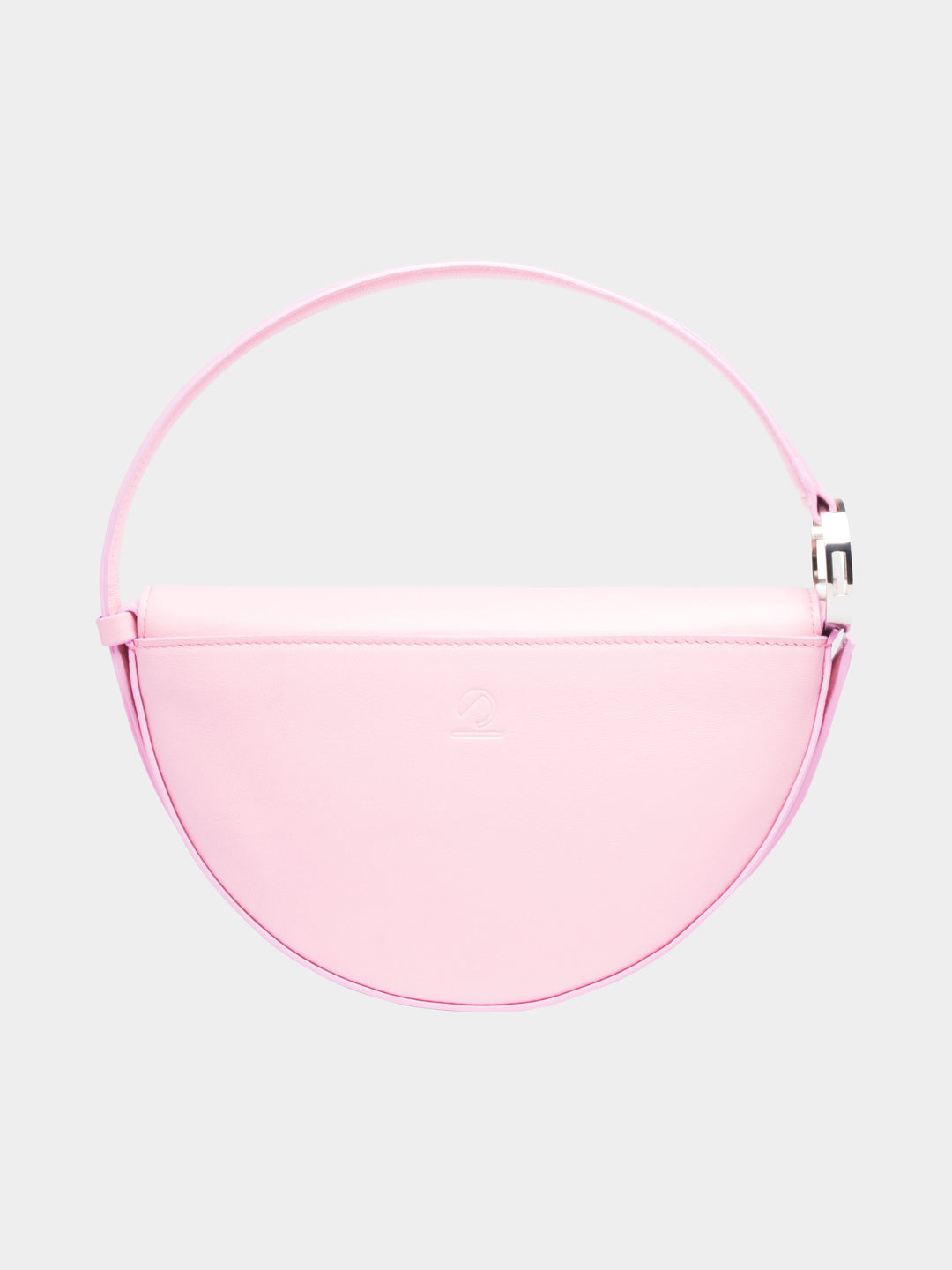 Dooz Libra Céleste leather handbag in color Blush (back view with stamp)