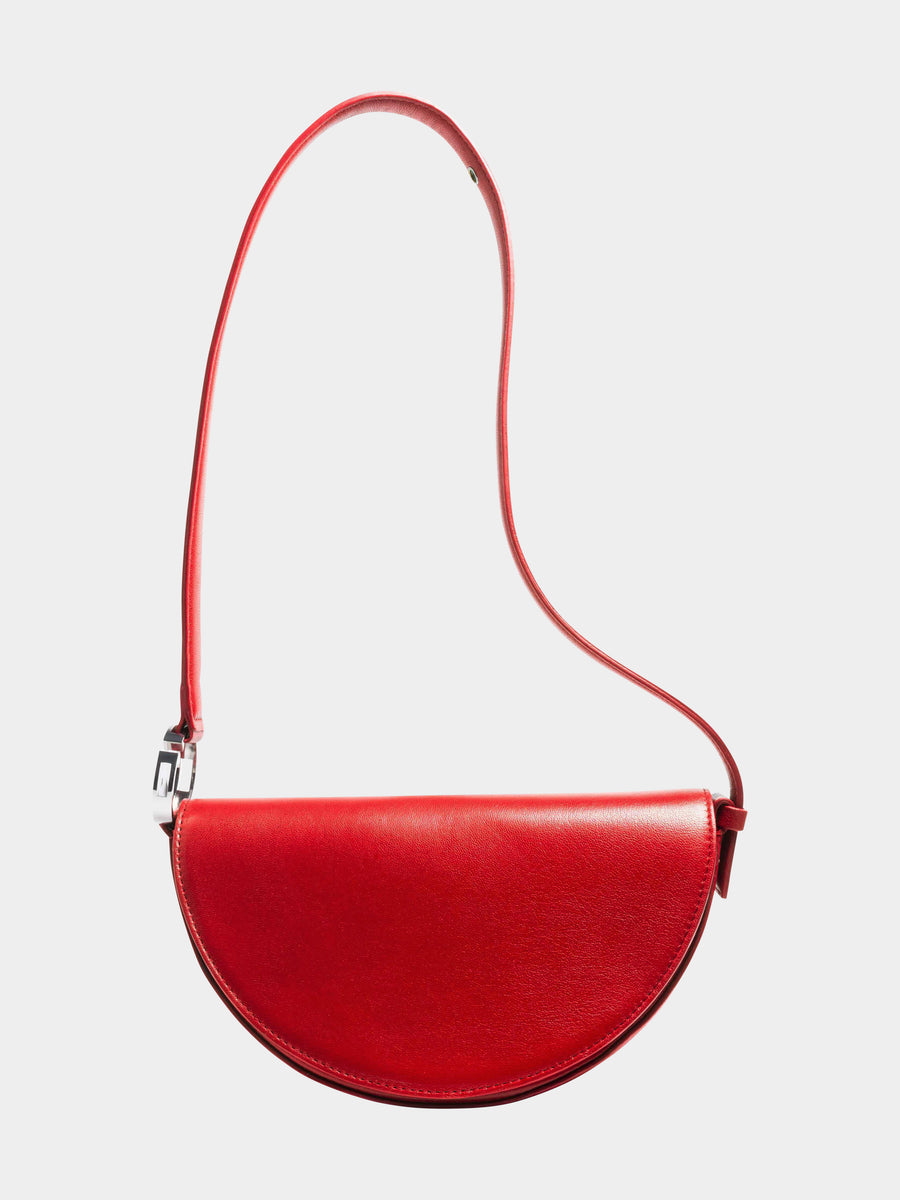Dooz Aries Céleste leather handbag in color Red (long strap)