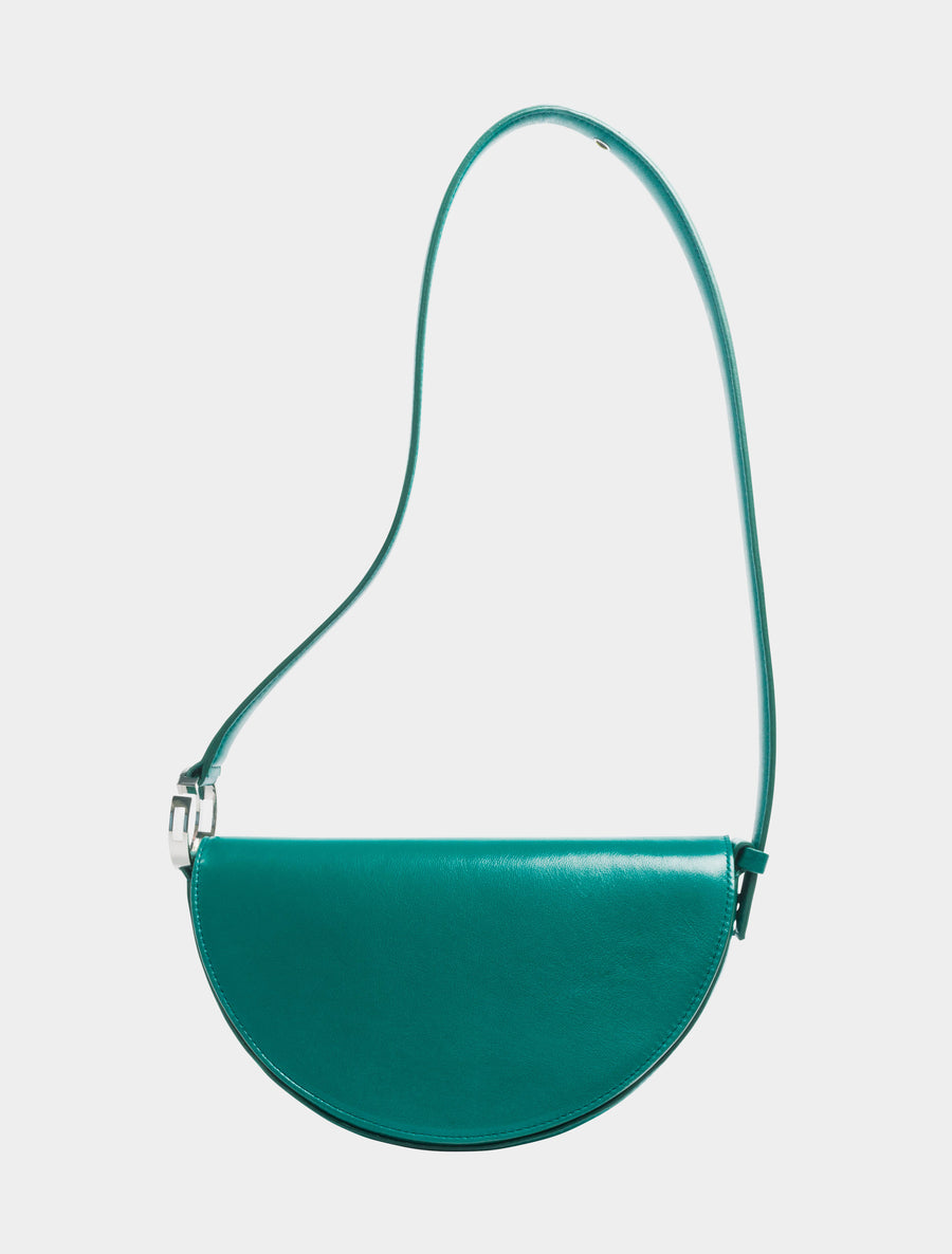 Dooz Taurus Céleste leather handbag in color Green (long strap)