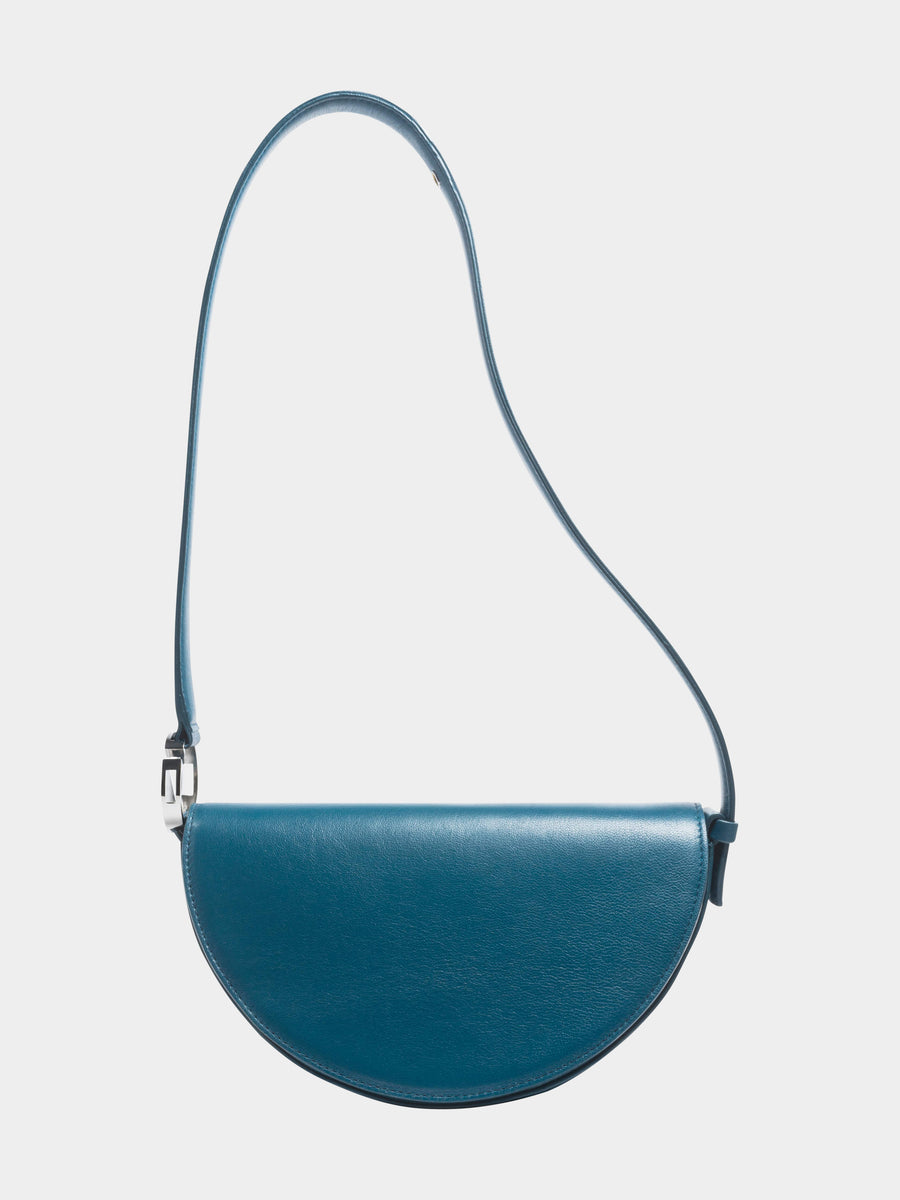 Dooz Cancer Céleste leather handbag in color Dark Teal (long strap)