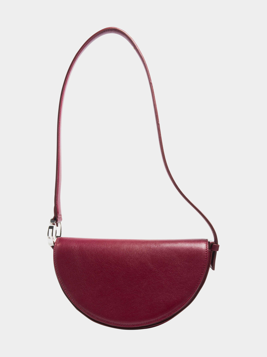 Virgo Celeste Bag in Burgundy long strap