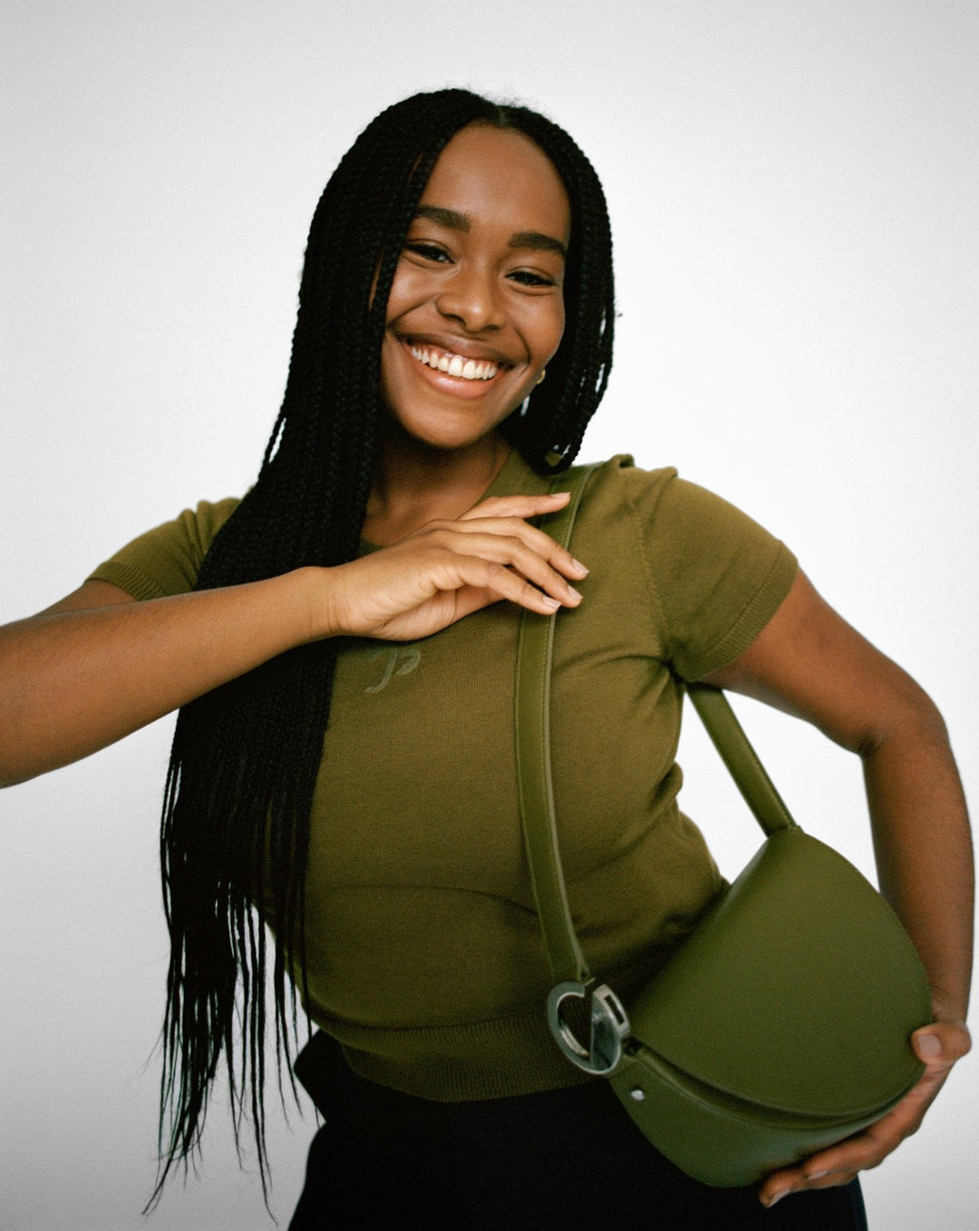 Capricorn Celeste Bag in Olive on Enga