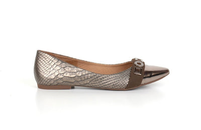 Brazilio CM848352 Croc Flatty BRONZE