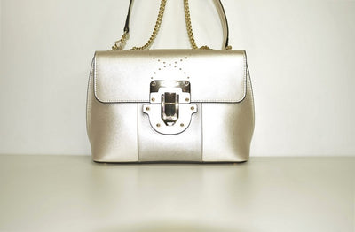 Cromia 697 Platino Leather Bag PEWTER