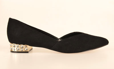 Brazilio CF194331 Jewel Heel Pump BLACK