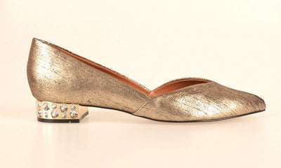 Brazilio CF194331 Jewel Heel Pump GOLD