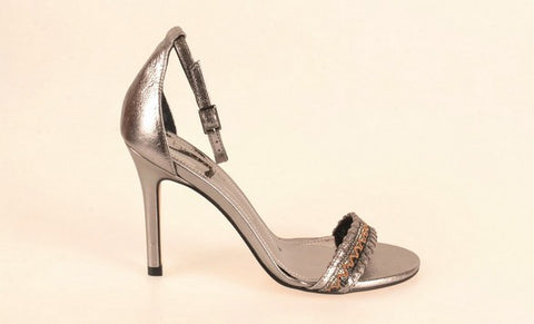 Brazilio KL3080984 Metallic Evening Shoe PEWTER