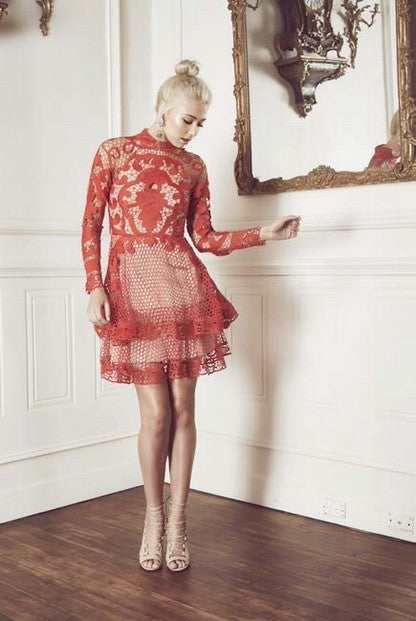 Thurley Rose Dress RED