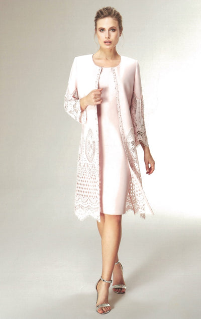 Nazzan 2221 Claudia Lace Coat and Dress PINK