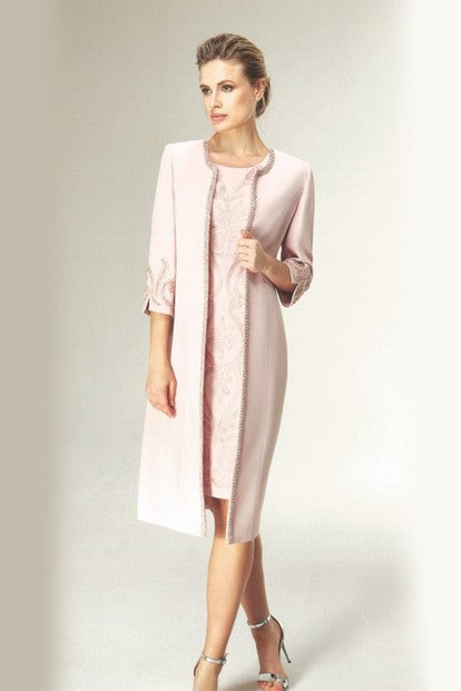 Nazzan 2240 Laura Coat and Dress PINK