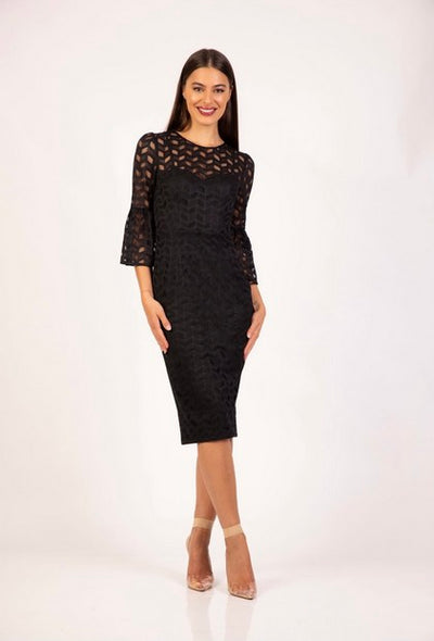 PSM RD204104 Tanisha Midi BLACK