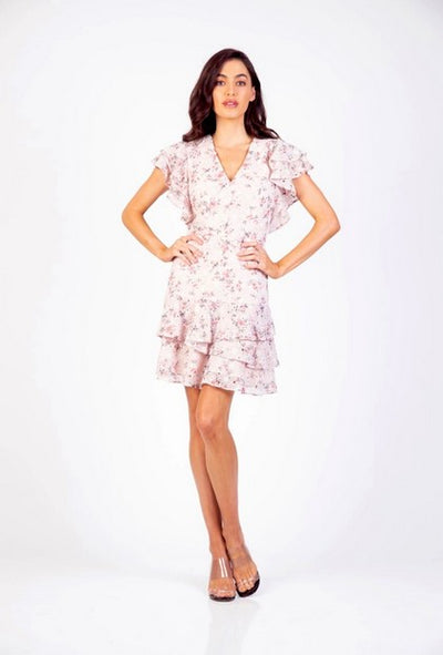 PSM HD204007 Take Me Frill Dress PINK